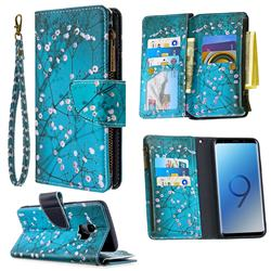 Blue Plum Binfen Color BF03 Retro Zipper Leather Wallet Phone Case for Samsung Galaxy S9