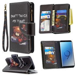 Chainsaw Bear Binfen Color BF03 Retro Zipper Leather Wallet Phone Case for Samsung Galaxy S9