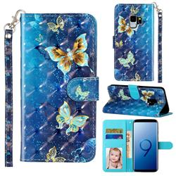 Rankine Butterfly 3D Leather Phone Holster Wallet Case for Samsung Galaxy S9
