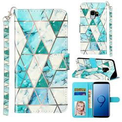 Stitching Marble 3D Leather Phone Holster Wallet Case for Samsung Galaxy S9