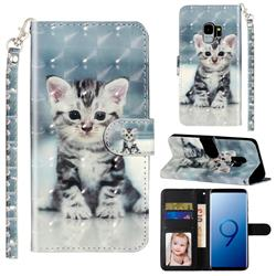 Kitten Cat 3D Leather Phone Holster Wallet Case for Samsung Galaxy S9