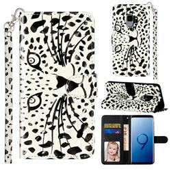 Leopard Panther 3D Leather Phone Holster Wallet Case for Samsung Galaxy S9