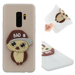 Bad Boy Owl Soft 3D Silicone Case for Samsung Galaxy S9 Plus(S9+) - Translucent White