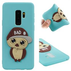 Bad Boy Owl Soft 3D Silicone Case for Samsung Galaxy S9 Plus(S9+) - Sky Blue