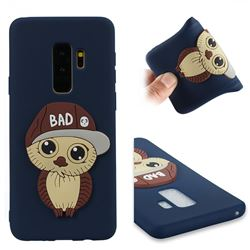Bad Boy Owl Soft 3D Silicone Case for Samsung Galaxy S9 Plus(S9+) - Navy