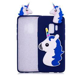 Unicorn Soft 3D Silicone Case for Samsung Galaxy S9 Plus(S9+) - Dark Blue