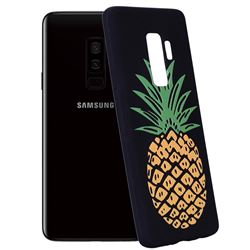 Big Pineapple 3D Embossed Relief Black Soft Back Cover for Samsung Galaxy S9 Plus(S9+)