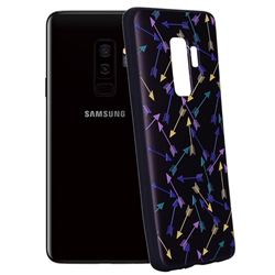 Colorful Arrows 3D Embossed Relief Black Soft Back Cover for Samsung Galaxy S9 Plus(S9+)