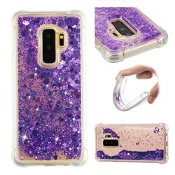 Dynamic Liquid Glitter Sand Quicksand Star TPU Case for Samsung Galaxy S9 Plus(S9+) - Purple