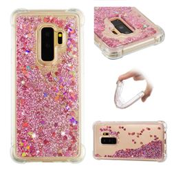 Dynamic Liquid Glitter Sand Quicksand Star TPU Case for Samsung Galaxy S9 Plus(S9+) - Diamond Rose