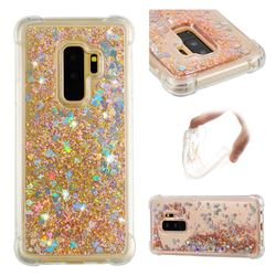 Dynamic Liquid Glitter Sand Quicksand Star TPU Case for Samsung Galaxy S9 Plus(S9+) - Diamond Gold