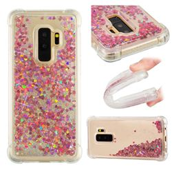 Dynamic Liquid Glitter Sand Quicksand TPU Case for Samsung Galaxy S9 Plus(S9+) - Rose Gold Love Heart