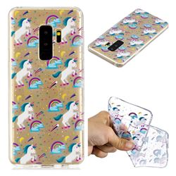 Rainbow Running Unicorn Super Clear Soft TPU Back Cover for Samsung Galaxy S9 Plus(S9+)
