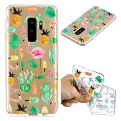 Cactus Flamingos Super Clear Soft TPU Back Cover for Samsung Galaxy S9 Plus(S9+)