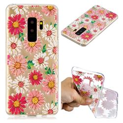Chrysant Flower Super Clear Soft TPU Back Cover for Samsung Galaxy S9 Plus(S9+)