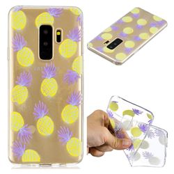 Carton Pineapple Super Clear Soft TPU Back Cover for Samsung Galaxy S9 Plus(S9+)