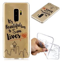 Line Castle Super Clear Soft TPU Back Cover for Samsung Galaxy S9 Plus(S9+)
