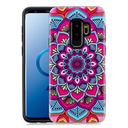 Datura Flowers Pattern 2 in 1 PC + TPU Glossy Embossed Back Cover for Samsung Galaxy S9 Plus(S9+)