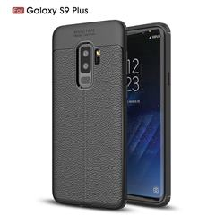 Luxury Auto Focus Litchi Texture Silicone TPU Back Cover for Samsung Galaxy S9 Plus(S9+) - Black
