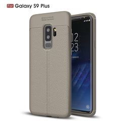 Luxury Auto Focus Litchi Texture Silicone TPU Back Cover for Samsung Galaxy S9 Plus(S9+) - Gray
