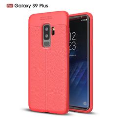 Luxury Auto Focus Litchi Texture Silicone TPU Back Cover for Samsung Galaxy S9 Plus(S9+) - Red