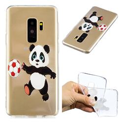 Football Panda Super Clear Soft TPU Back Cover for Samsung Galaxy S9 Plus(S9+)