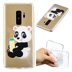 Baby Panda Super Clear Soft TPU Back Cover for Samsung Galaxy S9 Plus(S9+)