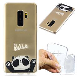 Hello Panda Super Clear Soft TPU Back Cover for Samsung Galaxy S9 Plus(S9+)