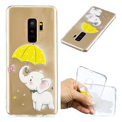 Umbrella Elephant Super Clear Soft TPU Back Cover for Samsung Galaxy S9 Plus(S9+)