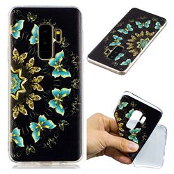 Circle Butterflies Super Clear Soft TPU Back Cover for Samsung Galaxy S9 Plus(S9+)