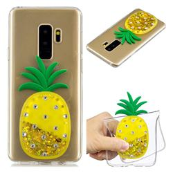 Gold Pineapple Liquid Quicksand Soft 3D Cartoon Case for Samsung Galaxy S9 Plus(S9+)