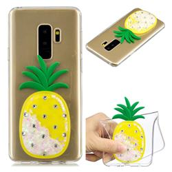 White Pineapple Liquid Quicksand Soft 3D Cartoon Case for Samsung Galaxy S9 Plus(S9+)