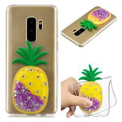 Purple Pineapple Liquid Quicksand Soft 3D Cartoon Case for Samsung Galaxy S9 Plus(S9+)