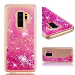 Dynamic Liquid Glitter Quicksand Sequins TPU Phone Case for Samsung Galaxy S9 Plus(S9+) - Rose