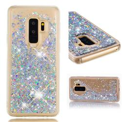 Dynamic Liquid Glitter Quicksand Sequins TPU Phone Case for Samsung Galaxy S9 Plus(S9+) - Silver