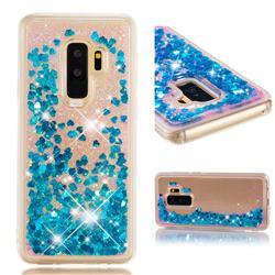 Dynamic Liquid Glitter Quicksand Sequins TPU Phone Case for Samsung Galaxy S9 Plus(S9+) - Blue