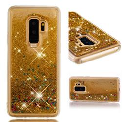Dynamic Liquid Glitter Quicksand Sequins TPU Phone Case for Samsung Galaxy S9 Plus(S9+) - Golden