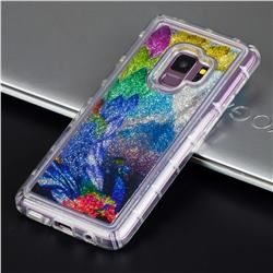 Phoenix Glassy Glitter Quicksand Dynamic Liquid Soft Phone Case for Samsung Galaxy S9 Plus(S9+)