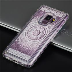 Mandala Glassy Glitter Quicksand Dynamic Liquid Soft Phone Case for Samsung Galaxy S9 Plus(S9+)