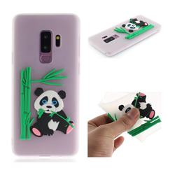 Panda Eating Bamboo Soft 3D Silicone Case for Samsung Galaxy S9 Plus(S9+) - Translucent