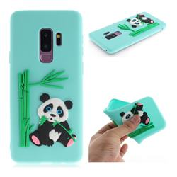 Panda Eating Bamboo Soft 3D Silicone Case for Samsung Galaxy S9 Plus(S9+) - Green