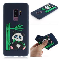 Panda Eating Bamboo Soft 3D Silicone Case for Samsung Galaxy S9 Plus(S9+) - Dark Blue