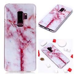 Red Grain Soft TPU Marble Pattern Phone Case for Samsung Galaxy S9 Plus(S9+)