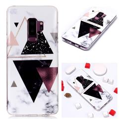 Four Triangular Soft TPU Marble Pattern Phone Case for Samsung Galaxy S9 Plus(S9+)