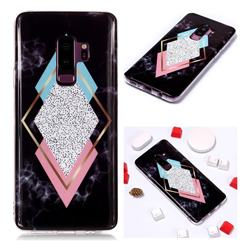 Black Diamond Soft TPU Marble Pattern Phone Case for Samsung Galaxy S9 Plus(S9+)