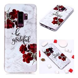 Rose Soft TPU Marble Pattern Phone Case for Samsung Galaxy S9 Plus(S9+)