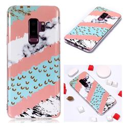 Diagonal Grass Soft TPU Marble Pattern Phone Case for Samsung Galaxy S9 Plus(S9+)