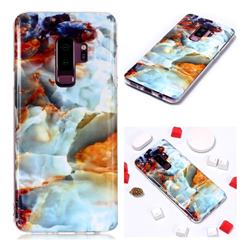 Fire Cloud Soft TPU Marble Pattern Phone Case for Samsung Galaxy S9 Plus(S9+)