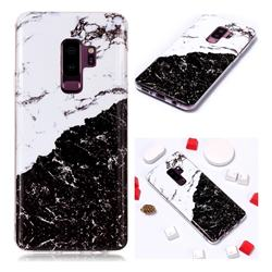 Black and White Soft TPU Marble Pattern Phone Case for Samsung Galaxy S9 Plus(S9+)