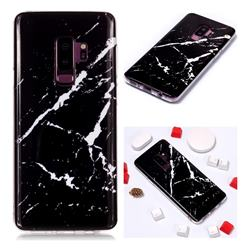Black Rough white Soft TPU Marble Pattern Phone Case for Samsung Galaxy S9 Plus(S9+)